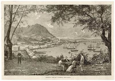Hong Kong Drawing - Victoria Seen From The Eastern  Hills by Mary Evans Picture Library
