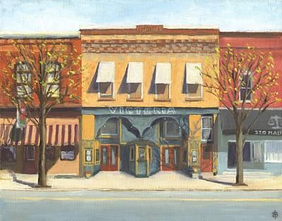 Streetscape Painting - Victoria Theater by Bibi Snelderwaard Brion