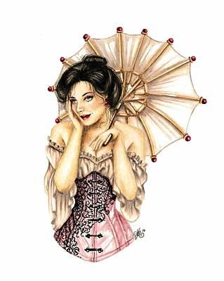 Mixed Media - Victorian Beauty by Scarlett Royal