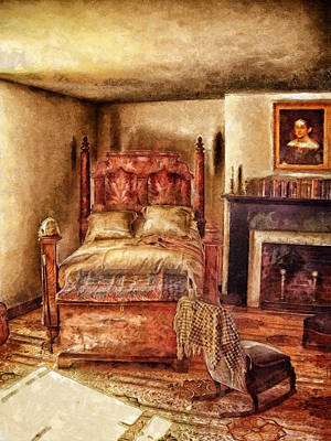 Digital Art - Victorian Bedroom by Mary Almond