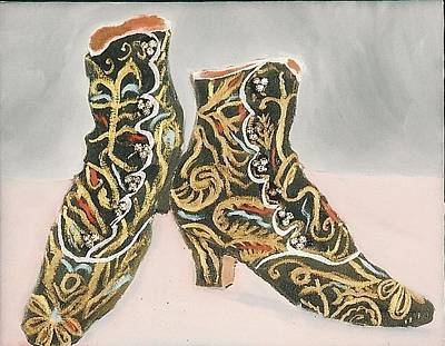 Mixed Media - Victorian Boots by Carmela Cattuti