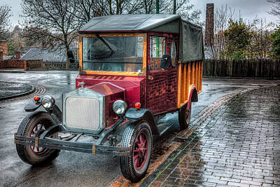 Victorian Town Digital Art - Victorian Car Replica  by Adrian Evans