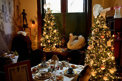 Photograph - Victorian Christmas Luncheon Room by Judy Wanamaker