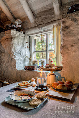 Garden Ornament Photograph - Victorian Cottage Breakfast V.2 by Adrian Evans
