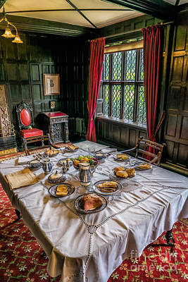 Table Cloth Photograph - Victorian Dining by Adrian Evans
