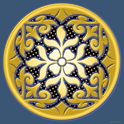 Digital Art Rights Managed Images - Victorian Door Knob Design Royalty-Free Image by Greg Joens
