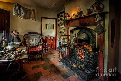 Bellows Photograph - Victorian Fire Place by Adrian Evans