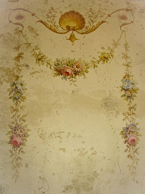 Victorian Floral Swag And Garland Print by Colleen Kammerer