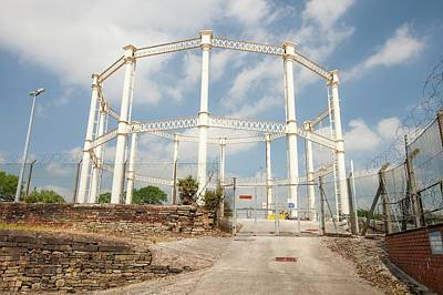 Iron Wire Photograph - Victorian Gasometer by Ashley Cooper