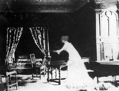 Photograph - Victorian Ghost 19th Century by Photo Researchers
