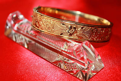 Gold-filled Photograph - Victorian Hand Engraved Bracelet by Iryna Goodall