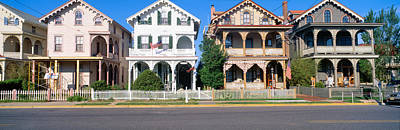 Nj Photograph - Victorian Homes In Cape May, New Jersey by Panoramic Images