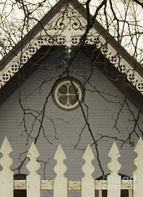 Photograph - Victorian House Behind Ipicket Fence by Jill Battaglia