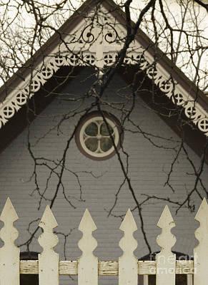 Photograph - Victorian House Behind Ipicket Fence by Jill Battaglia