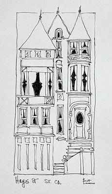 Victorian House On Hays Street, San Art Print