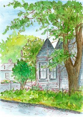 Painting - Victorian House On The Corner by Cathie Richardson
