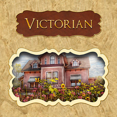 Photograph - Victorian Houses Button by Mike Savad