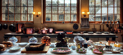 Bacon Photograph - Victorian Kitchen by Adrian Evans