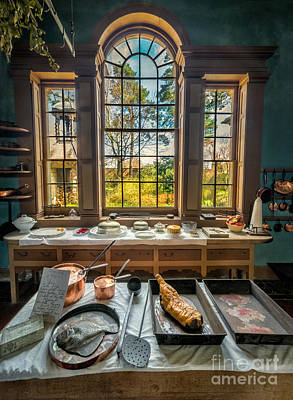 Fish Food Photograph - Victorian Kitchen Window by Adrian Evans