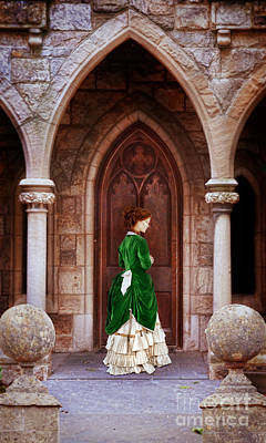 Photograph - Victorian Lady At A Doorway by Jill Battaglia