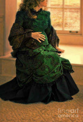 Victorian Lady Expecting A Baby Print by Jill Battaglia