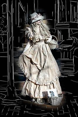 Victorian Lady Art Print by John Haldane