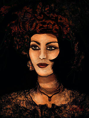 Smart Mixed Media - Victorian Lady by Natalie Holland
