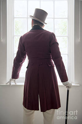 Regency Era Wall Art - Photograph - Victorian Man Watching At The Window by Lee Avison