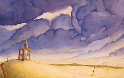 High Plains Painting - Victorian Meadows I by Scott Kirby