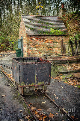 Brick Buildings Photograph - Victorian Mining Cart by Adrian Evans