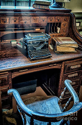 Photograph - Victorian Office by Adrian Evans