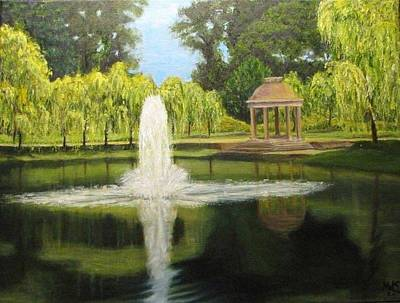 Painting - Victorian Park by Michael Saunders