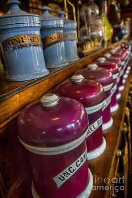 Medicine Bottles Photograph - Victorian Pharmacy by Adrian Evans