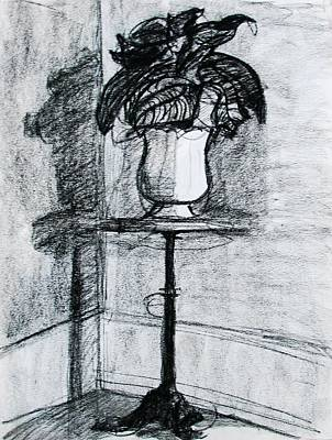 Drawing - Victorian Plant Stand by Anita Dale Livaditis