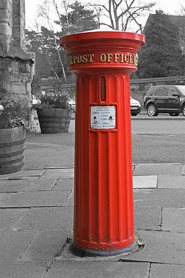 Photograph - Victorian Post Box by Tony Murtagh