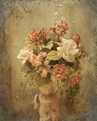 Victorian Rose Floral Art Print by TnBackroadsPhotos