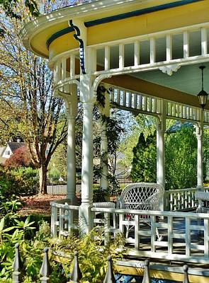 Photograph - Victorian Rounded Porch by VLee Watson