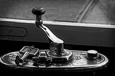 Photograph - Victorian Tram Steering Handle by Doc Braham