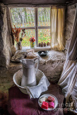 Victorian Wash Area Art Print by Adrian Evans