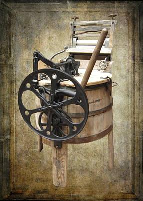 Vintage Washing Machine Photograph - Victorian Wash Machine by Daniel Hagerman