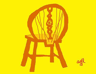 Painting - Victorian Wheelback Chair by Anita Dale Livaditis