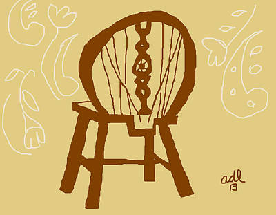 Painting - Victorian Wheelback Chair With Lace by Anita Dale Livaditis