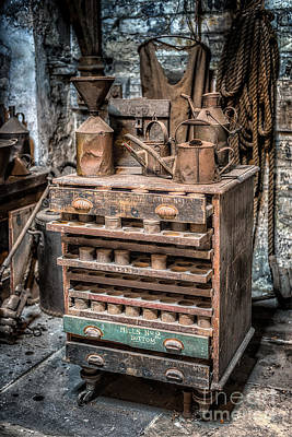 Old Brick Building Photograph - Victorian Workshop by Adrian Evans