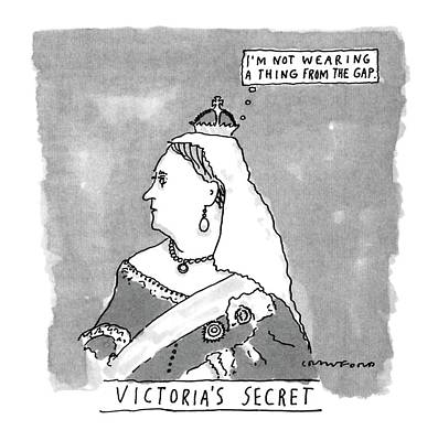 Victoria Drawing - Victoria's Secret by Michael Crawford