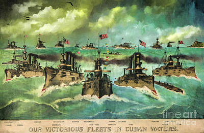 Victorious Navy - 1898 Art Print