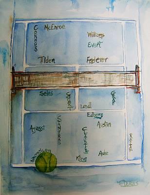 Victors On The Hardcourts Original by Elaine Duras