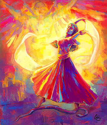 Prophetic Art Wall Art - Painting - Victory Dance by Tamer and Cindy Elsharouni