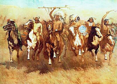 Digital Art - Victory Dance by Frederic Remington