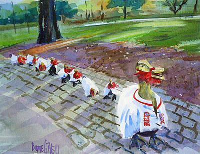 Victory Ducks Art Print by Diane Bell