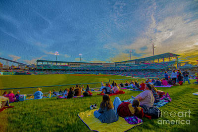 Victory Field Oil Art Print by David Haskett